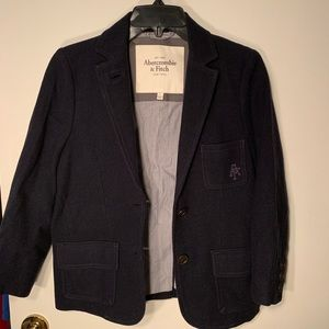 Navy blue wool blazer